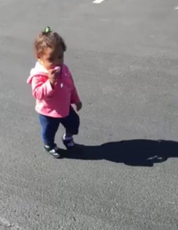 Adorable Little Girl Meets Her Shadow