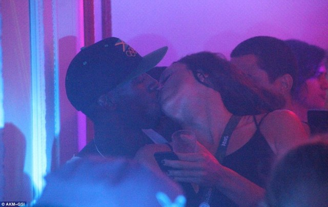 MORE PHOTOS OF BOLT SURFACE- Kissing Another Mystery Woman In Rio Night Club