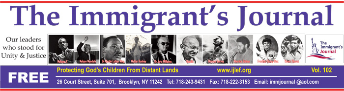 The Immigrant's Journal – Vol. 103
