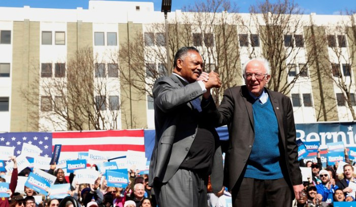 Rev. Jesse Jackson Endorses Bernie for President
