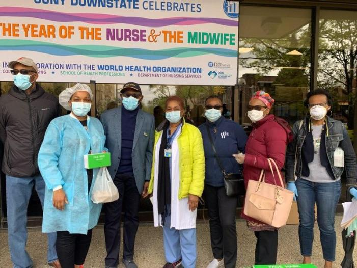 Barbados Consulate and Associations treat Nurses at Downstate, NY