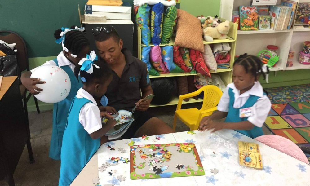 Classroom assistant in St Lucia