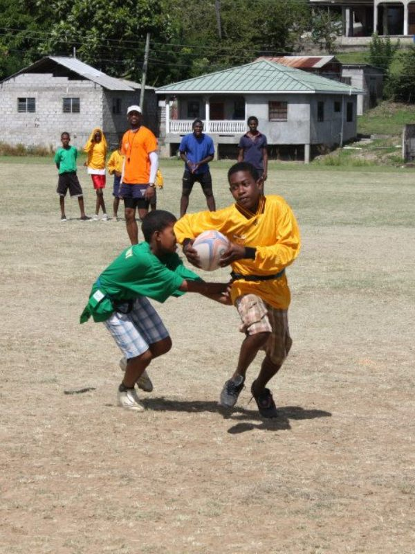 Youth rugby tournament in St Lucia
