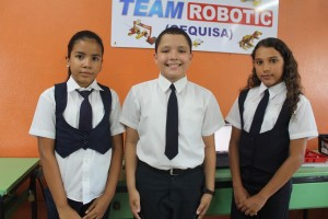 Ailyn Pichardo, Cristian Pineda y Luisa Garcia.