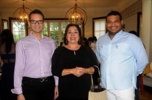 Francisco Sanchis, Ingrid Hahn de Moya y Rafael Rivero.