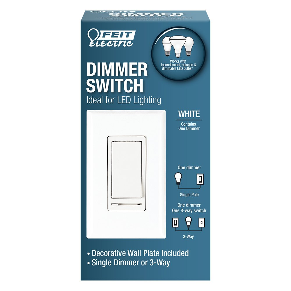 150w Led Dimmer With Decorative Wall Plate 120v Caribbean Lighting Three Way Switch One