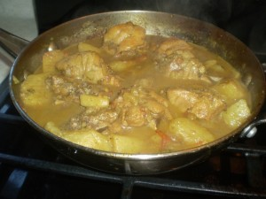 trini curry chicken