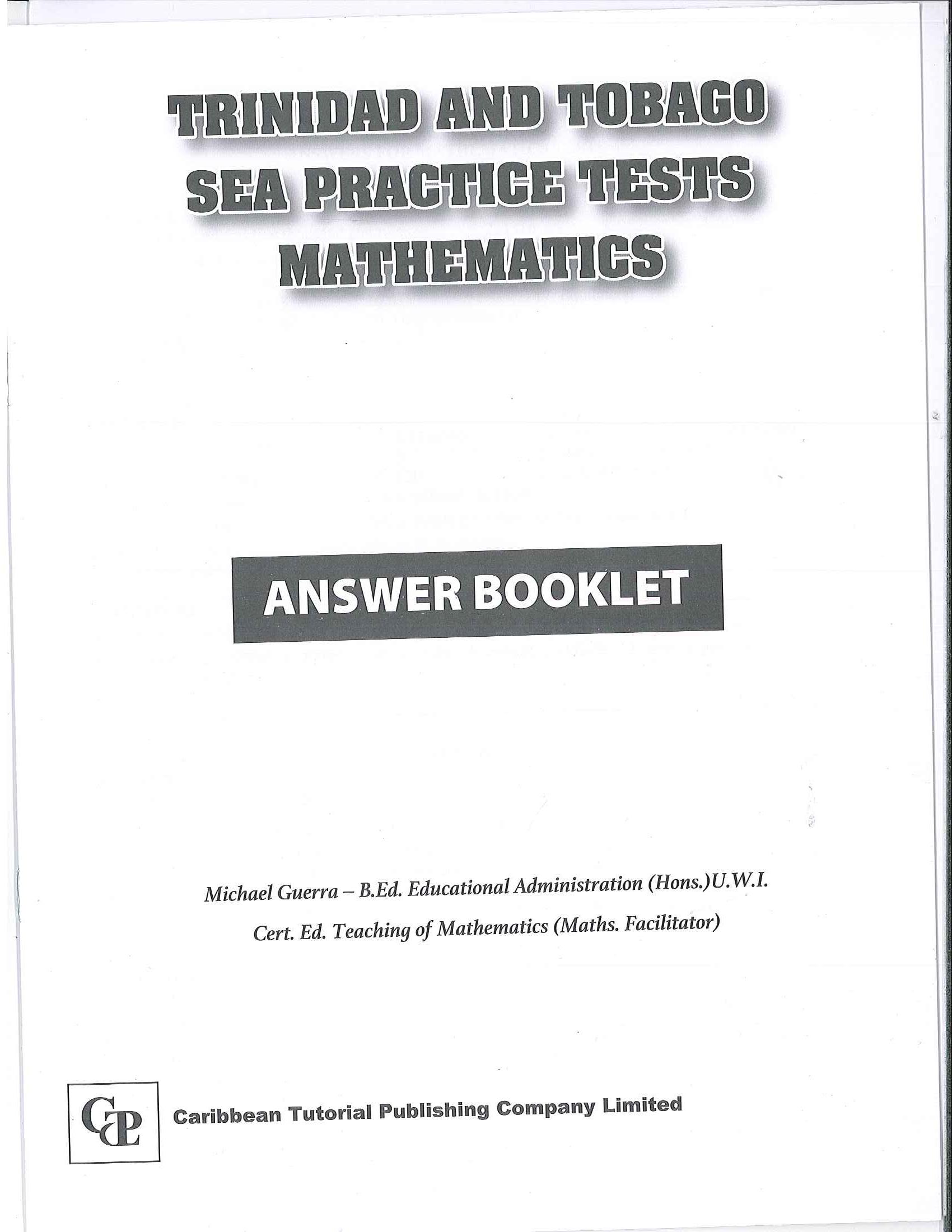 Trinidad And Tobago Sea Practice Tests Mathematics Answer