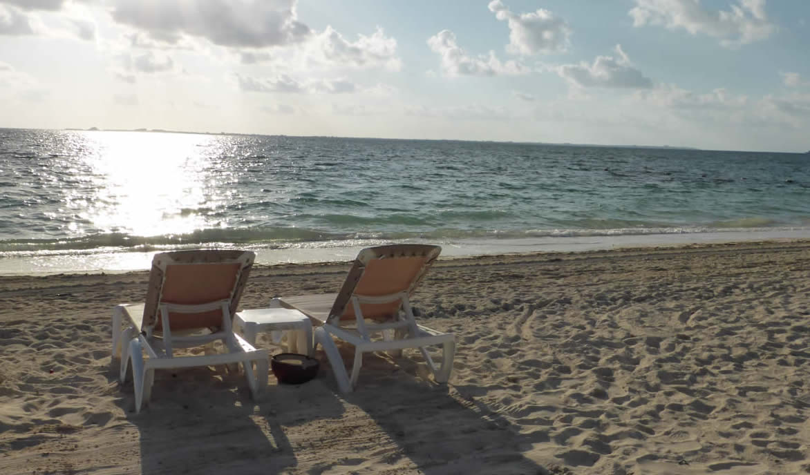 The beautiful sands of the Excellence Playa Mujeres Resort
