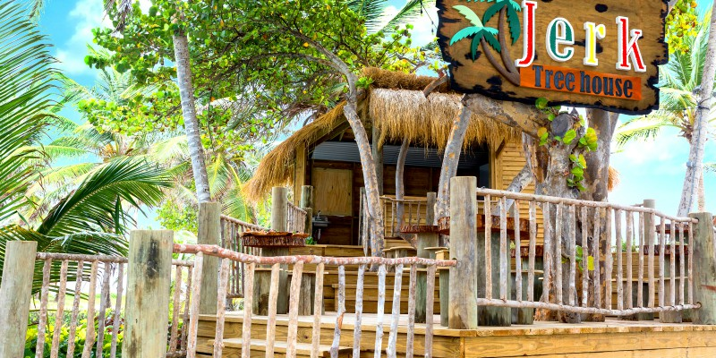 Jerk Shack at Coconut Bay Beach Resort by Caribbean Warehouse