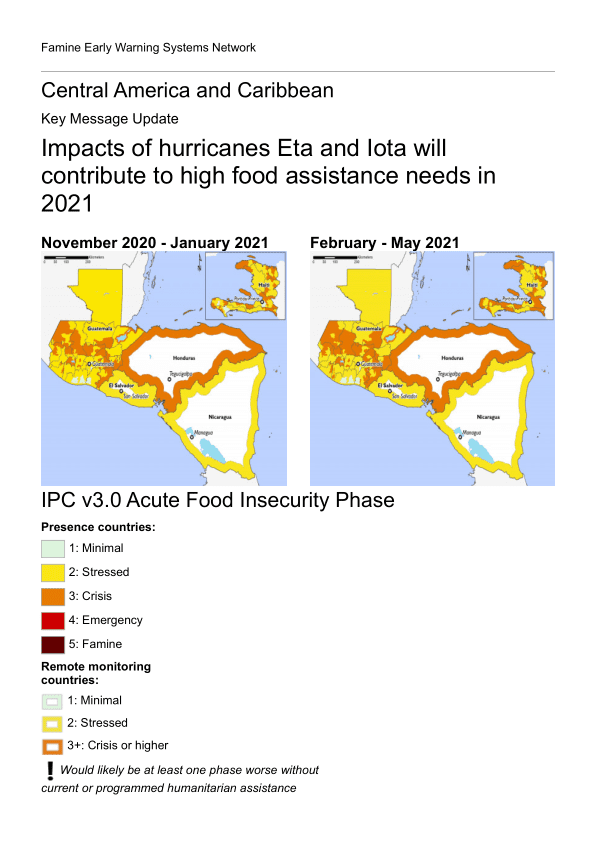 Central America and Caribbean Key Message Update: Impacts of hurricanes
