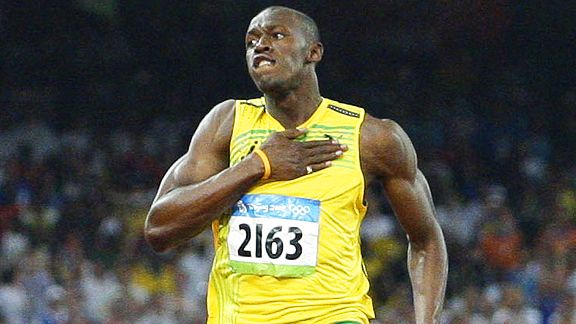 Jamaican sprint legend Usain Bolt is trying his talent at