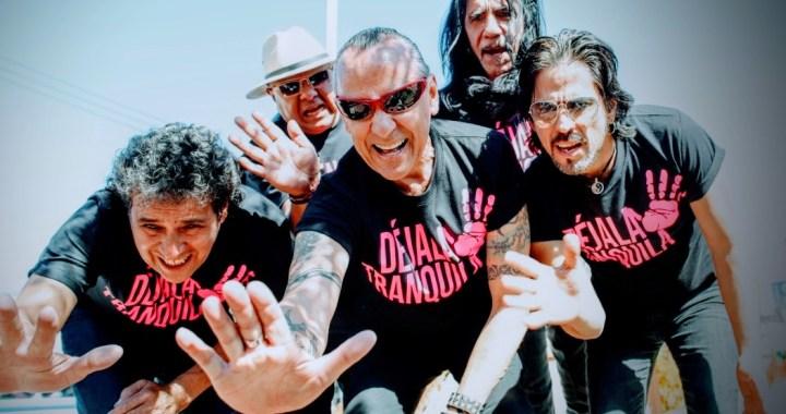 """Presentan la campaña """"Dejala tranquila"""" con el grupo de rock Ritmo Peligroso"""