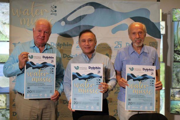 """Dolphin Discovery y la Orquesta Sinfónica de Cancún unen esfuerzos en pro de la cultura en Cancún y presentan el concierto """"Water Music"""