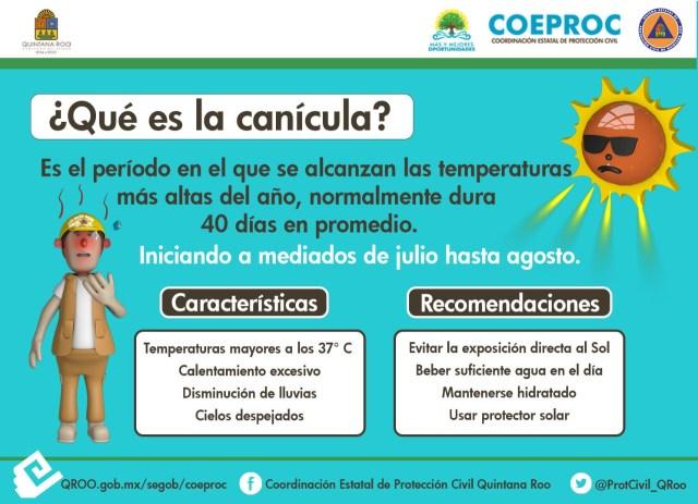 Pide COEPROC tomar medidas preventivas ante la canícula
