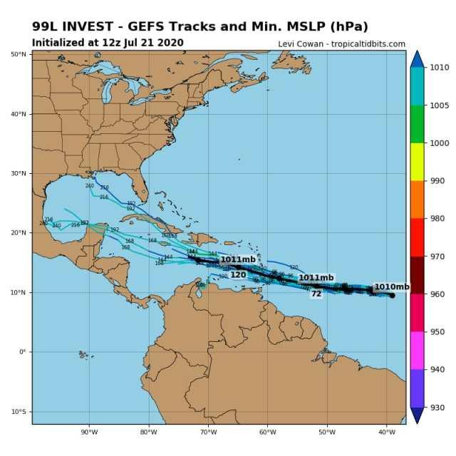 Onda tropical avanza hacia Q.Roo con alta probabilidad de convertirse en huracán