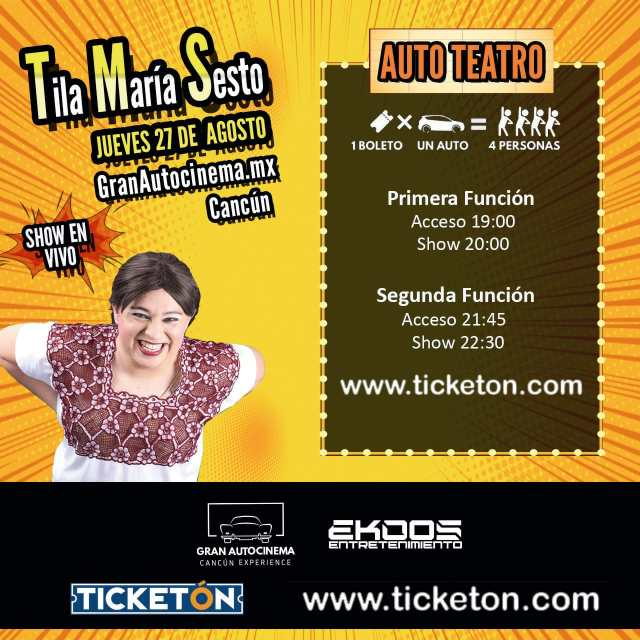 """""""Tila María Sesto"""", su historia contada por Óscar Martínez, actor y creador de este exitoso personaje @TilaMariaSesto @ticketon"""