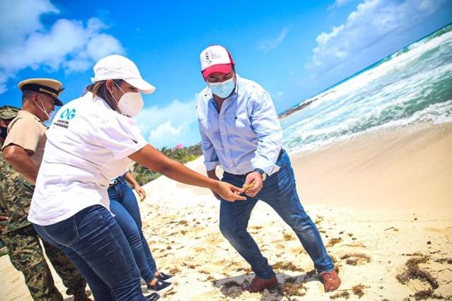 Playas de Isla Mujeres, libres de sargazo, en espera de reapertura