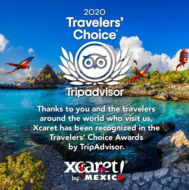 Grupo Xcaret es reconocido en los Travellers' Choice Awards 2020 de TripAdvisor