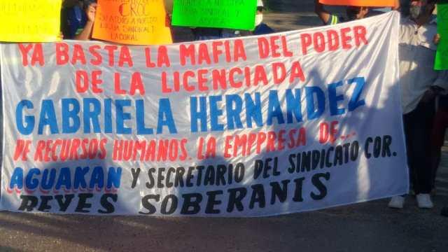 Aguakan precisa que manifestación de empleados es por cuestiones sindicales