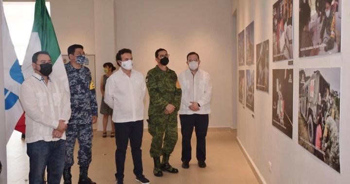 Inauguran exposición fotográfica del Ejército y Fuerza Aéreas Mexicanos en Cozumel
