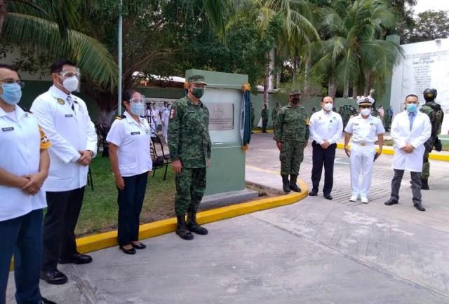 Condecoran a Hospital Militar de Chetumal por atención en pandemia