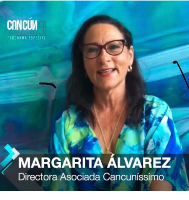 Margarita Alvarez, Directora asociada de Cancunissimo en entrevista para #Caribempresarial