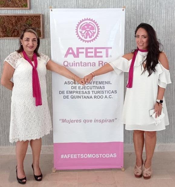 AFEET, la Asociación Femenil de Ejecutivas de Empresas Turísticas en su Capítulo Quintana Roo, cambia de estafeta
