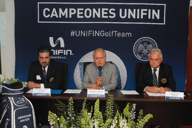 "Abraham Ancer se suma al programa ""Campeones UNIFIN"""