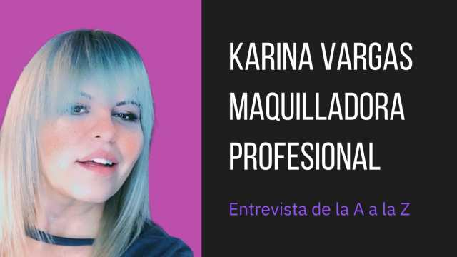 """""""Arriba las brochas"""", nos dice la maquilladora profesional Karina Vargas"""