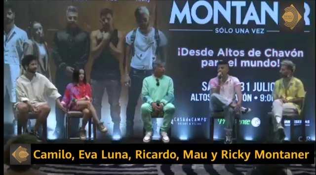 Conferencia de la Familia Montaner + Camilo sobre el concierto en República Dominicana @montanertwiter @sonymusicmexico