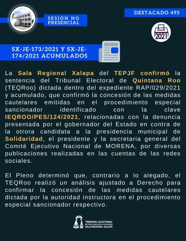 Tribunal Electoral Federal confirma restricción para que morenistas eviten comentarios contra gobernador de Q.Roo, Carlos Joaquín