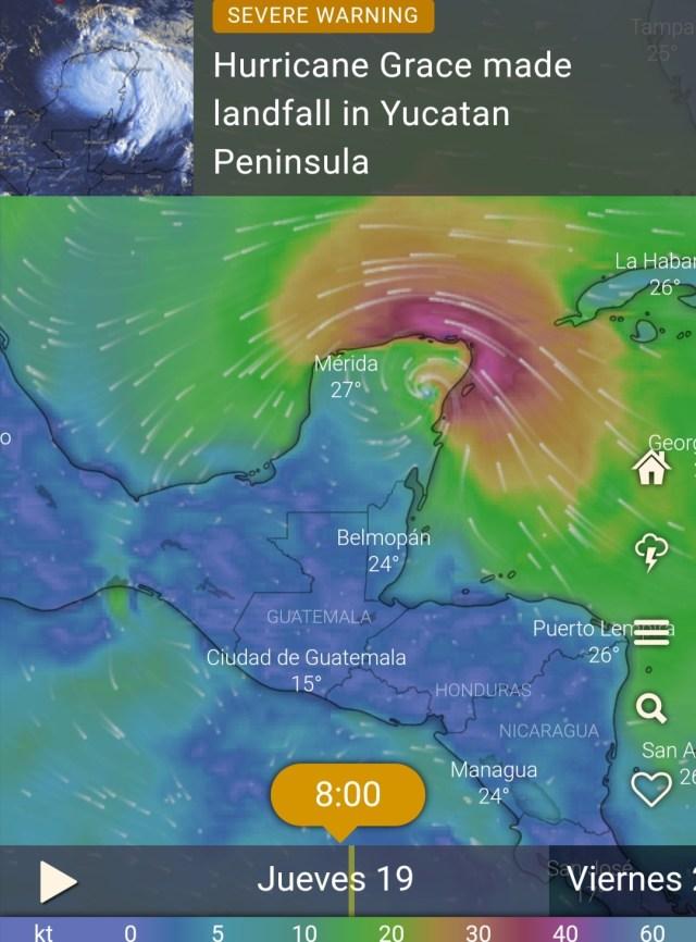Hasta el momento se ha recuperado el suministro eléctrico al  10%   de los usuarios afectados en Qroo y Yucatán por el huracán Grace