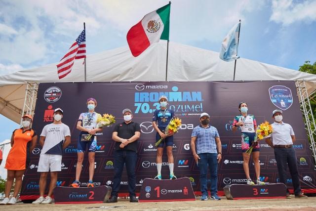 Compitieron más de dos mil triatletas en el Ironman en Cozumel
