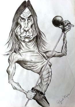 Iggy Pop caricature