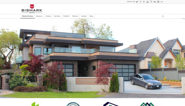 Bismark Homes - WordPress Website Design