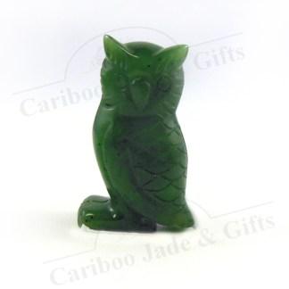 "BC jade carved 1.5"" owl"
