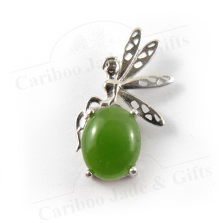BC jade fairy pendant