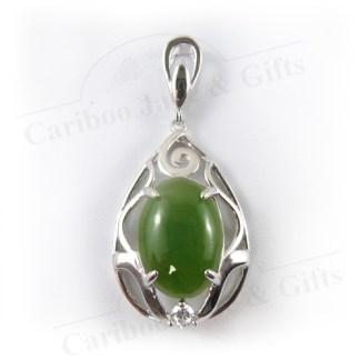BC nephrite jade pendant