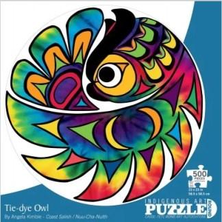 tie-dye owl puzzle