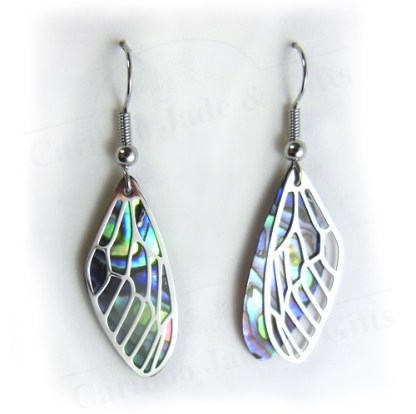 glacier pearle dragonfly wing earrings