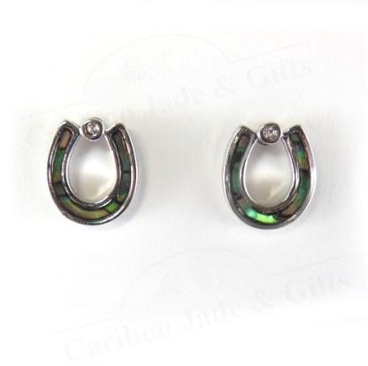 glacier pearle horseshoe earrings