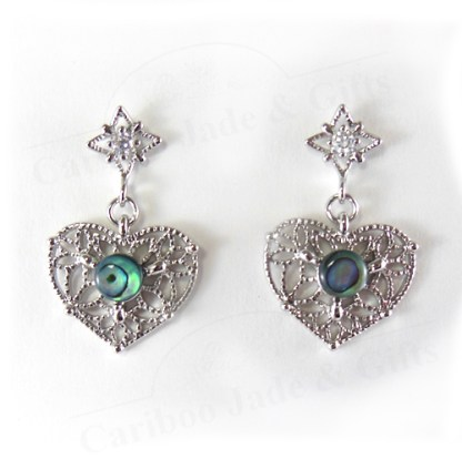 Glacier pearle lace heart earrings