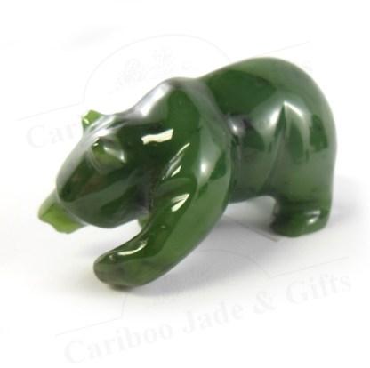 B.C. nephrite jade bear walking
