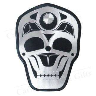 skull metallic magnet