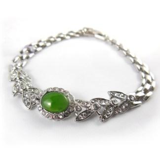 bc jade rhinestone bracelet