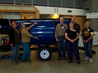 Some of the Volunteers with the Gold Machine :)