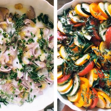 Tian courgettes et tomates