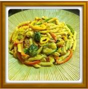 My home-cooked Rasta Pasta.