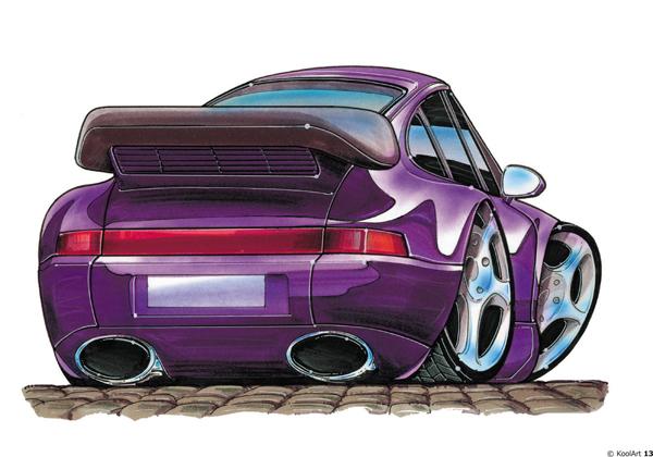 Porsche 911 Carrera Violette